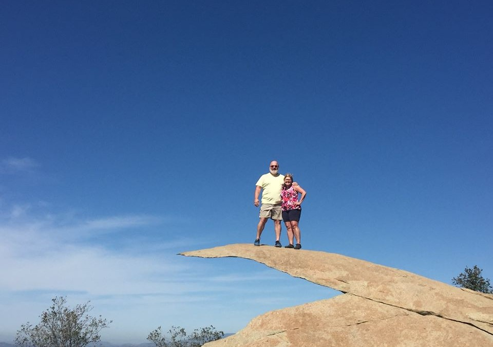 Climbing Out on Potato Chip Rock